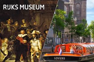 Amsterdam: Rijksmuseum & Grachtenfahrt