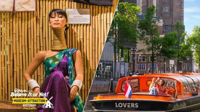 Crucero por los canales de Ámsterdam de 1 hora y Ripley's Believe It or Not