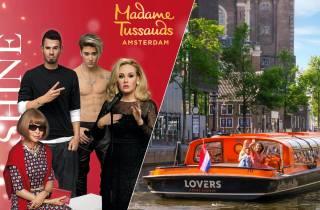 Amsterdam: Grachtenfahrt & Madame Tussauds Kombi-Tour