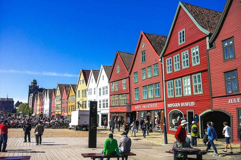 Bergen: Stadtrundfahrt, Fjordkreuzfahrt und Standseilbahn Fløyen
