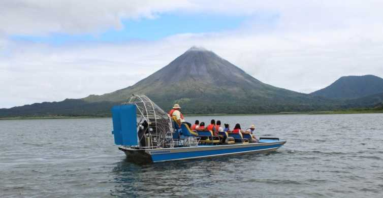 La Fortuna: Arenal Lake Airboat Combo Tours