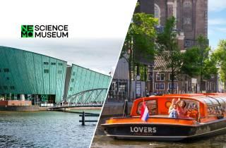 Amsterdam: Grachtenfahrt & NEMO Museum