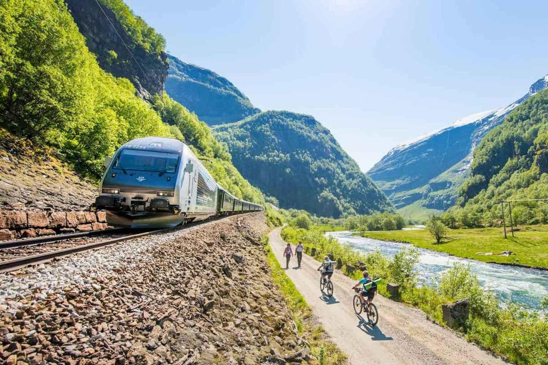 Bergen: Rallarvegen Radfahren, Fjordbootstour & Flåmbahn