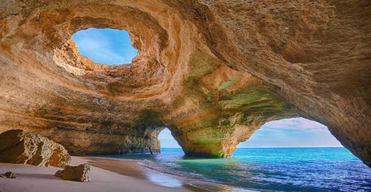De Portimão: Excursão de barco de 2 horas pelas grutas de Benagil