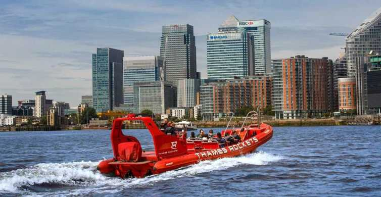 Londen: Thames Rockets Private Speedboat Experience