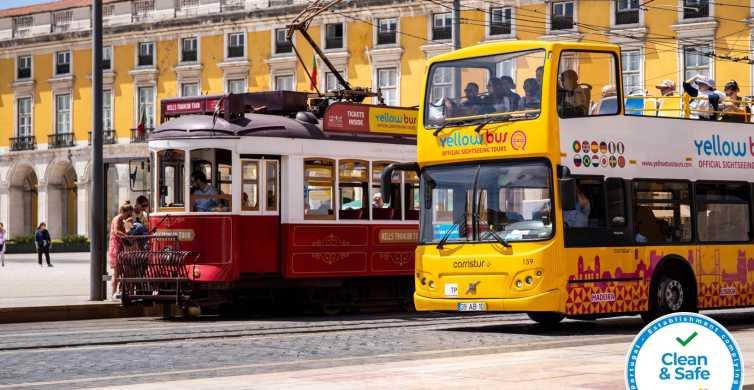 Lissabon: 4-in-1-ticket hop on, hop off-bus & tram