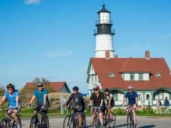 Portland, Maine: Leuchtturm-Radtour mit Hummerrolle