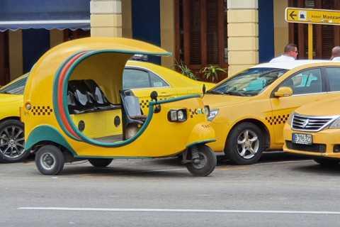 Havana: Old Havana Walking Tour with Cocotaxi Ride