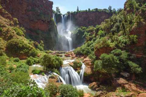 De Marrakech: caminhada guiada pelas cachoeiras de Ouzoud e passeio de barco