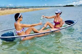 Miami: Glasboden-Kajak-Abenteuer mit Champagner-Toast