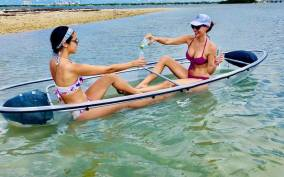 Miami: Clear-Bottom Kayak Adventure with Champagne Toast