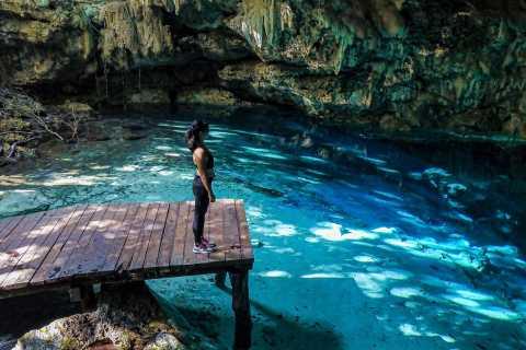 From Cozumel: Mountain Bike and Cenote in Playa del Carmen