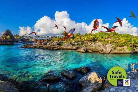 From Riviera Maya: Xcaret Park Entry and Transportation