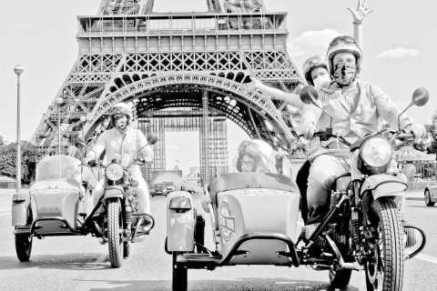 Paris: visite guidée de la ville de trois heures dans un vieux sidecar