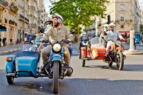 Paris: visite d'une demi-journée du sidecar vintage classique de 2 heures