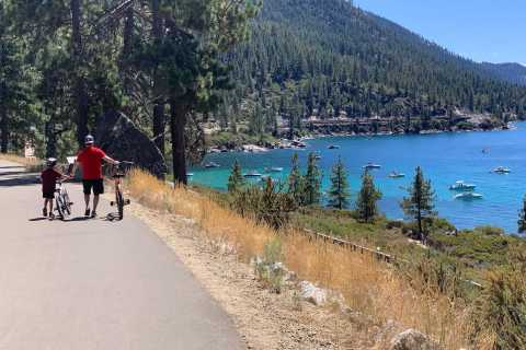 Lake Tahoe: Hybrid Bike Rental and Self-Guided Tour