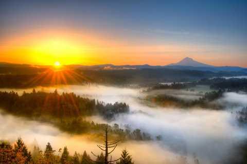 Portland: Flugbesichtigungstour Mount Hood