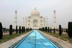 De Deli: Excursão noturna privada ao Taj Mahal e Mathura
