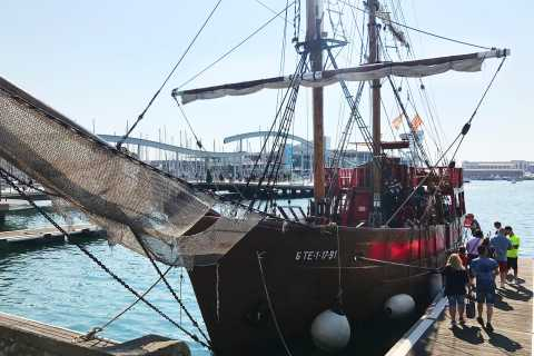 Barcelona: Piratenbootfahrt mit Blick auf die Skyline