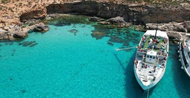 Malta: paseo en barco a Comino, Laguna Azul y cuevas