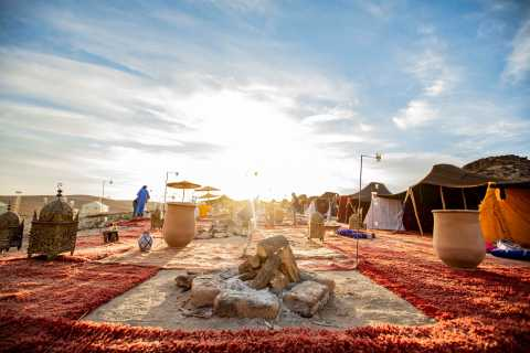 Marrakech: Agafay Desert Dinner with Camel Ride or Quad Bike