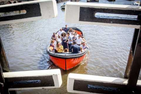 Amsterdam: Private Canal Cruise w/ Drinks & Pizza or Burger