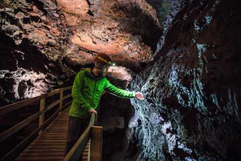 Reykjavik: West Iceland Lava Cave, Spa and Waterfalls Tour