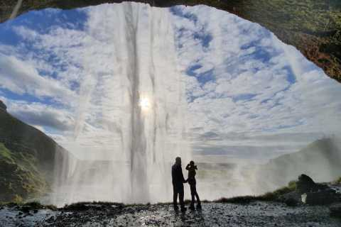 Reykjavik: Wild South Waterfalls, Black Beach & Glacier Hike