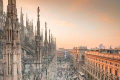 Ingresso Catedral de Milão e Terraço