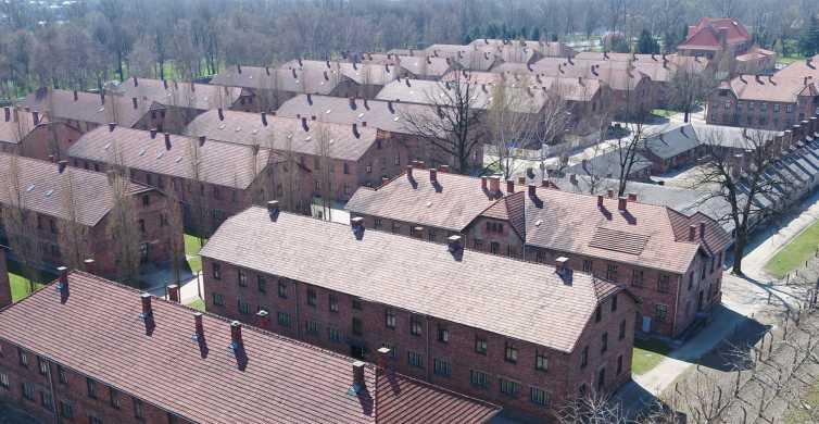 From Krakow: Auschwitz-Birkenau Transportation and Entrance