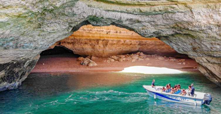 De Portimão: Passeio de barco em Benagil com guia local