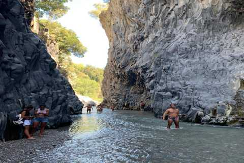Catania: Mount Etna and Alcantara River Guided Tour
