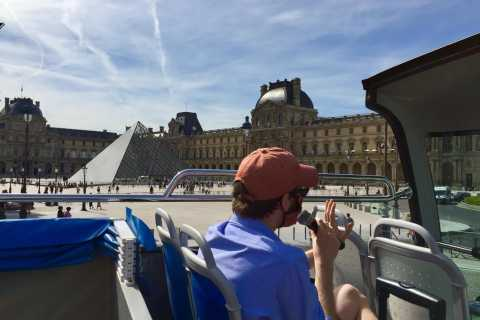 Paris: Open Top Bus Tour in French