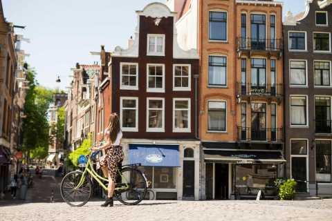 Excursão particular de bicicleta para grupos pequenos no bairro de Anne Frank