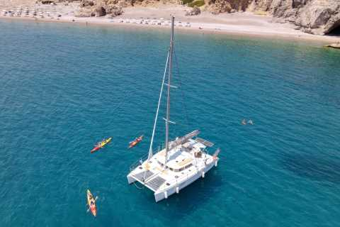 Rhodes Town: Catamaran Day Cruise with Lunch