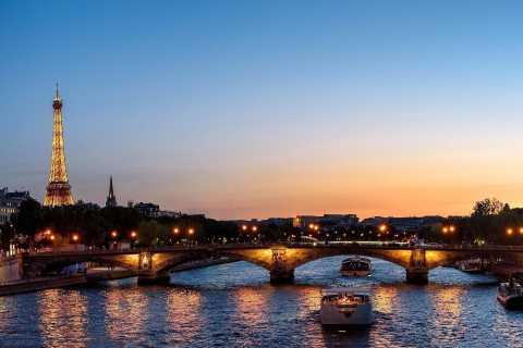 Torre Eiffel com Acesso Direto ao Topo e Cruzeiro Noturno
