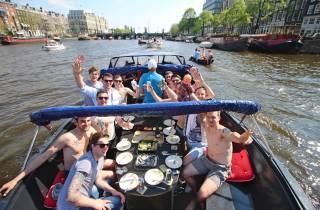 Amsterdam: Unterhaltsame Grachtenfahrt mit gesunden Snacks