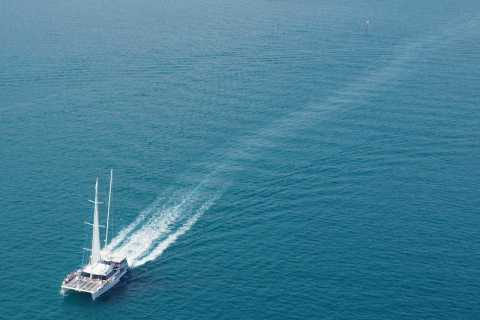 Malaga: Catamaran Sail with Swimming and BBQ