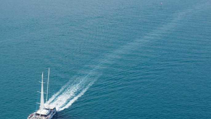 Málaga: catamarán de vela con natación y barbacoa