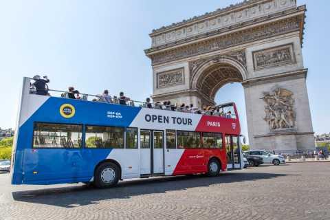 París: tour nocturno y pase de un día para el autobús descapotable con paradas libres