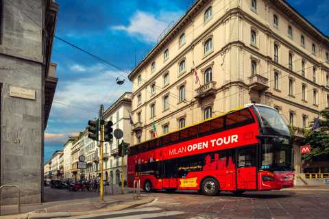 Milan: Walking and Open-Top Bus Tour with Live Guide