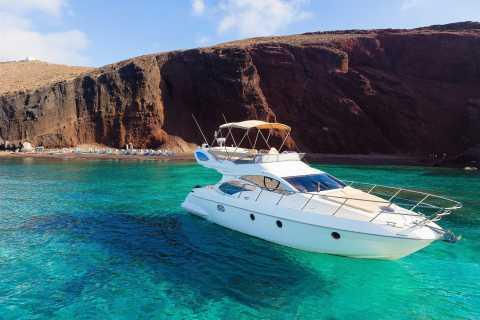 Santorini: Highlights dell'isola Crociera su uno yacht di lusso