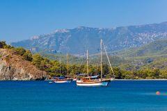 Viagem de barco de dia inteiro em Phaselis saindo de Antalya com almoço