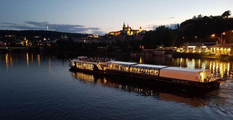 Praga: tour, crociera di 3 ore con cena, prelievo dall'hotel