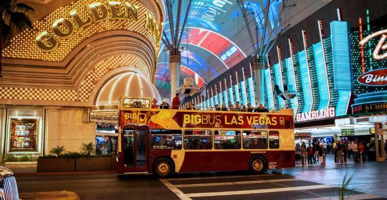 Las Vegas: tour nocturno de 3 h en autobús descapotable