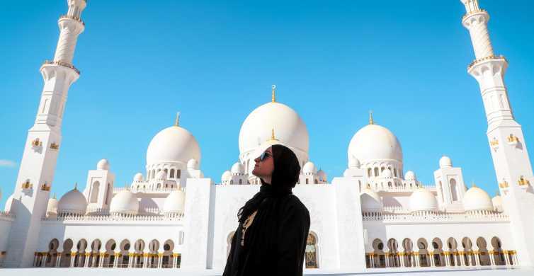 From Abu Dhabi: Mosque, Qasr Al Watan & Etihad Towers