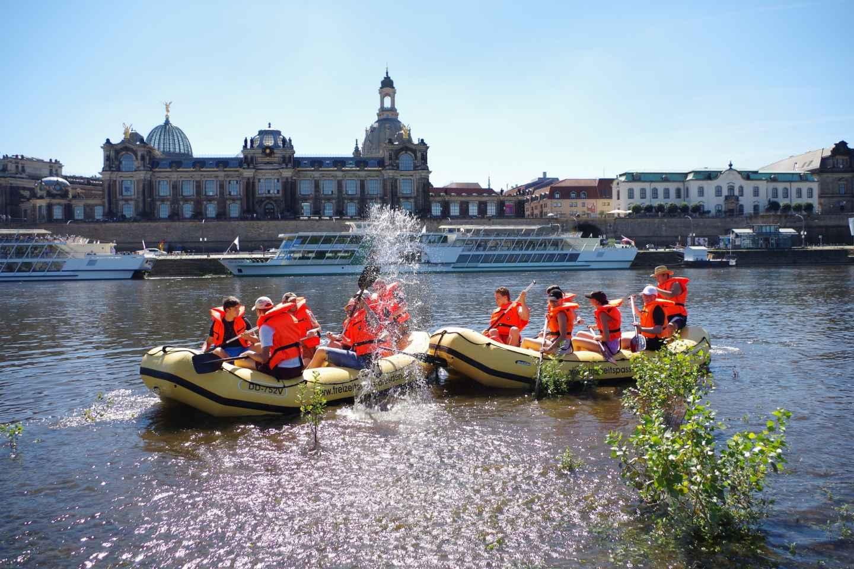 Dresden: Schlauchboot-Tour durch die Altstadt