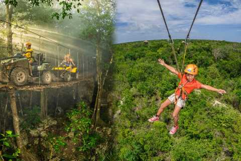 From Cancun & Riviera Maya: ATV, Zip Line, and Cenotes Tour