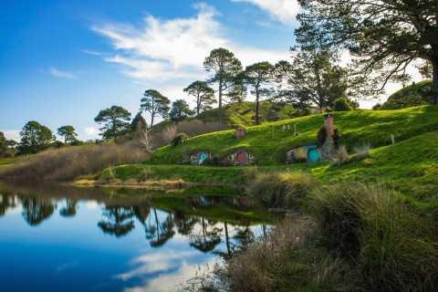 Van Auckland: Hobbiton, Waitomo Glowworm Caves en Te Puia