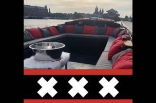 Amsterdam: Private Pizza-Bootsfahrt